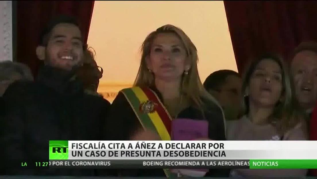 Fiscalía boliviana cita a Áñez a declarar por un caso de presunta desobediencia