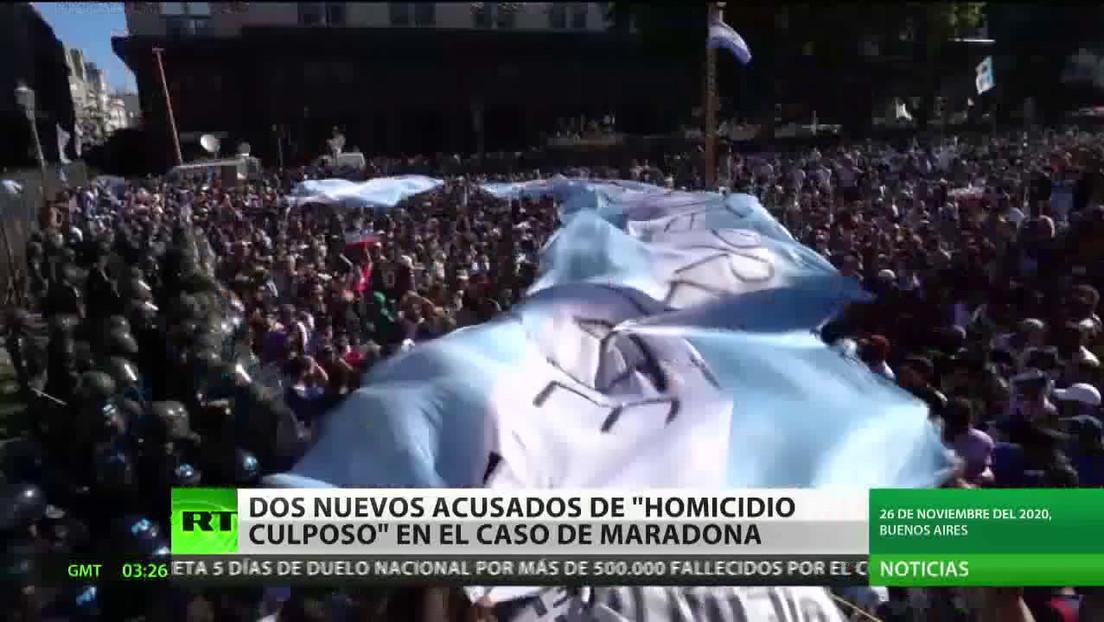 """Dos nuevos acusados de """"homicidio culposo"""" en el caso de Maradona"""