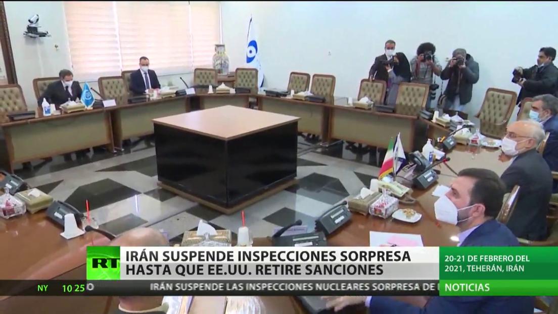 Irán suspende las inspecciones sorpresa hasta que EE.UU. retire las sanciones
