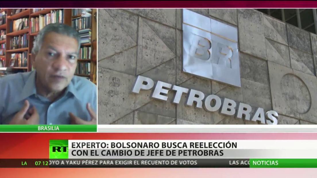 Experto afirma que Bolsonaro busca la reelección con el cambio del jefe de Petrobras