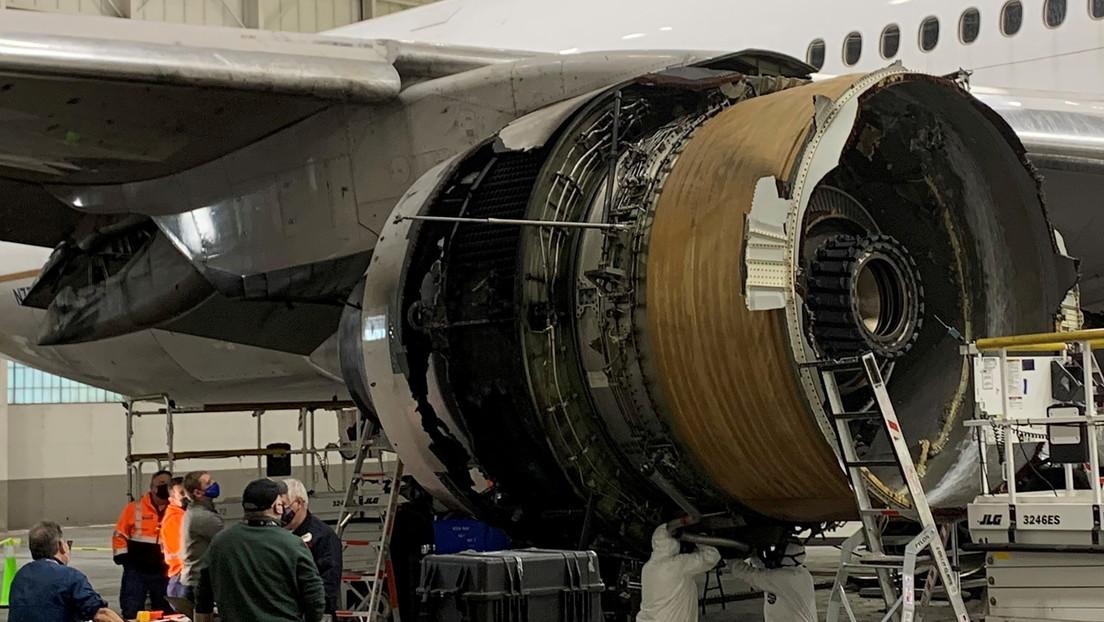 Fatiga del metal pudo provocar el incendio del motor del Boeing 777 de United Airlines