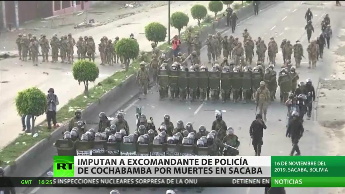 Imputan a excomandante de la Policía de Cochabamba por muertes en Sacaba