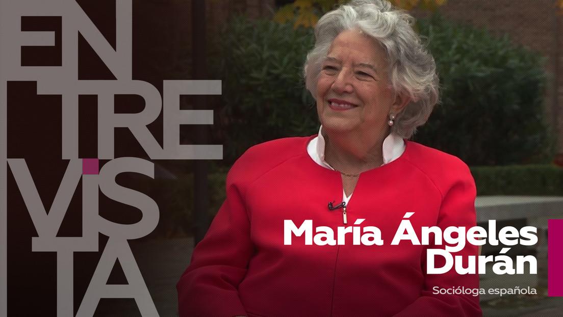"""María Ángeles Durán, socióloga española: """"Durante la pandemia nos hemos acordado de mucha gente invisible"""""""