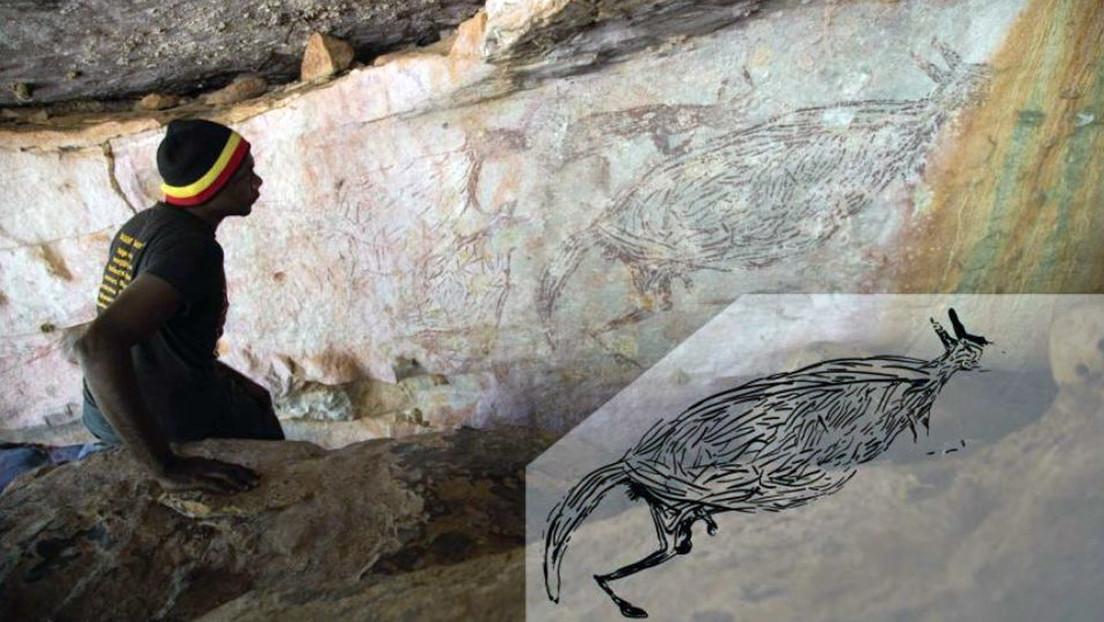 FOTO: Identifican el arte rupestre más antiguo de Australia con más de 17.000 años de antigüedad