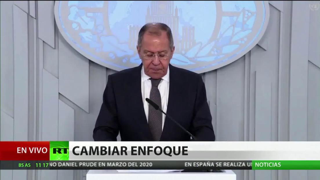 Lavrov: Occidente ignora el llamado de la ONU contra las sanciones en pandemia