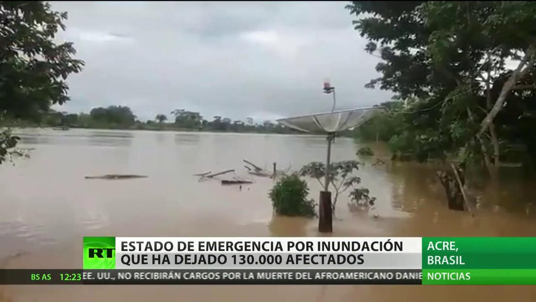 Estado de emergencia en Brasil por una inundación que ha dejado 130.000 afectados