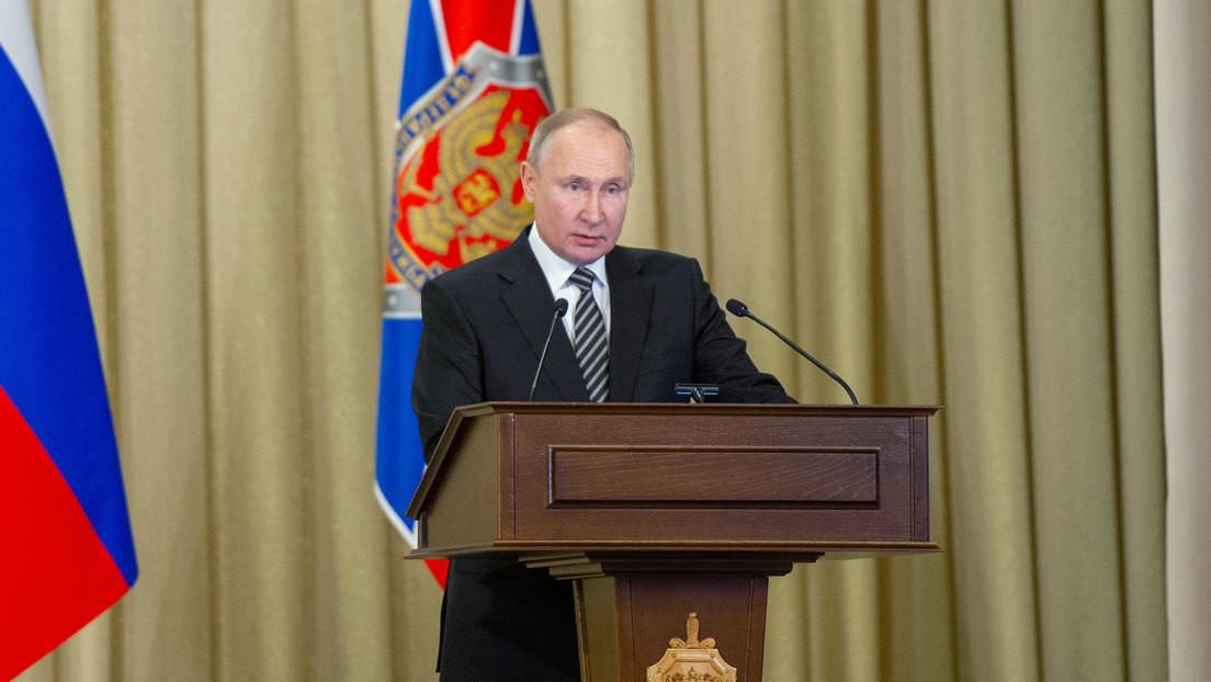 """Putin: """"Hay una línea de acción sistemática y bastante agresiva con el fin de debilitar a Rusia"""""""