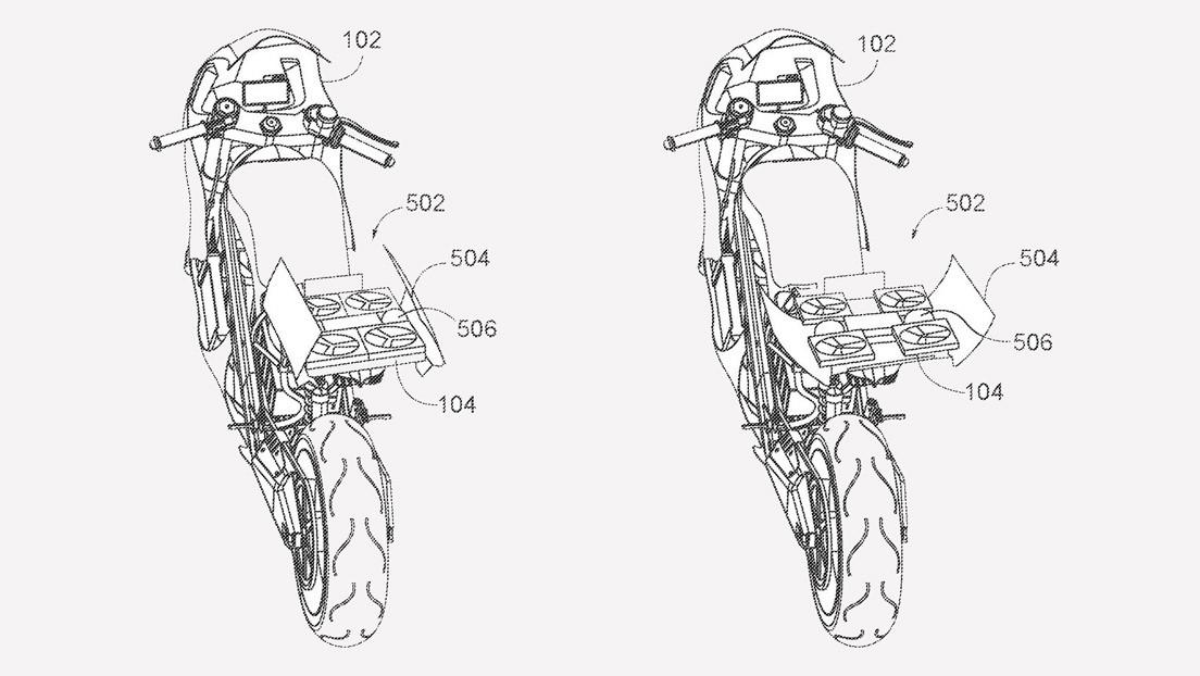 Honda busca patentar una moto con dron retráctil incorporado en la cola