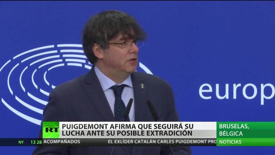 Puigdemont afirma que seguirá su lucha ante su posible extradición