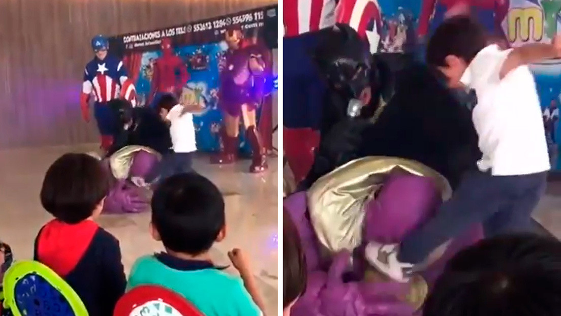VIDEO: Un niño patea en la cabeza al villano Thanos en una fiesta infantil (y provoca la reacción de James Gunn)