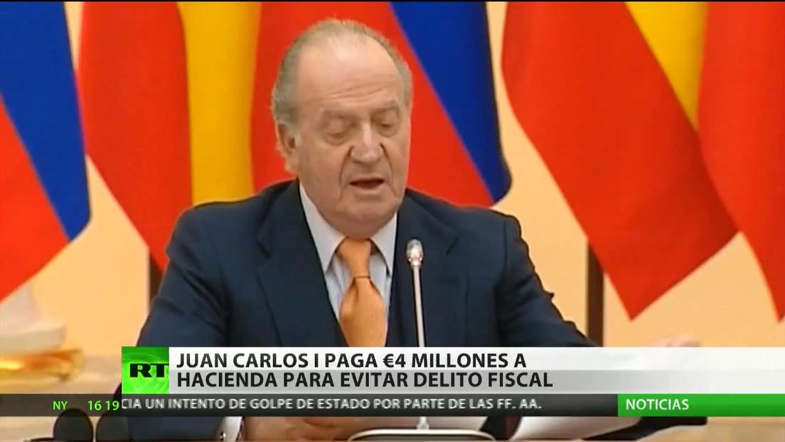 Juan Carlos I paga cuatro millones de euros a la Agencia Tributaria española para evitar el delito fiscal