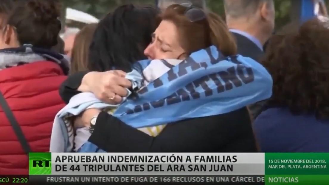 Argentina aprueba indemnización para las familias de los 44 tripulantes del submarino ARA San Juan