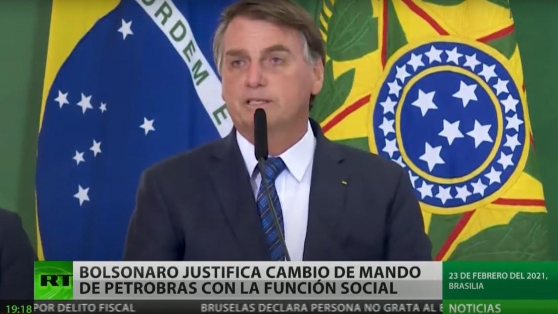 Bolsonaro justifica la destitución del director de Petrobras con la ausencia de visión social