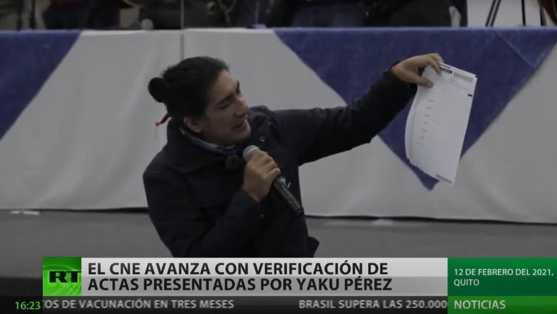 El Consejo Nacional Electoral de Ecuador avanza con la verificación de las actas presentadas por Yaku Pérez