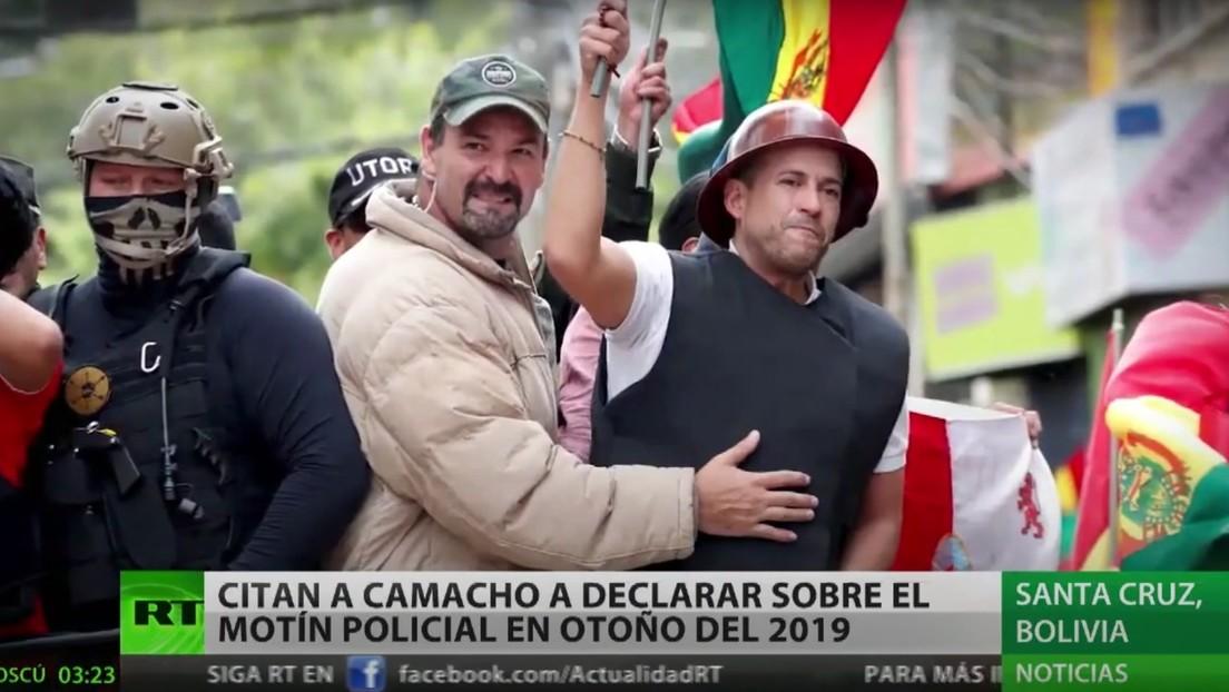 Citan en Bolivia a Luis Fernando Camacho para declarar sobre el motín policial durante el golpe de Estado de 2019