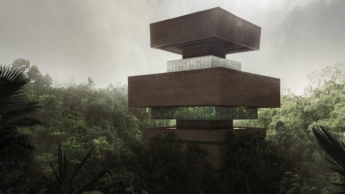 Un museo en mitad de la selva: Diseñan un edificio en forma de pirámide escalonada que será construido con madera y tierra al sur de México
