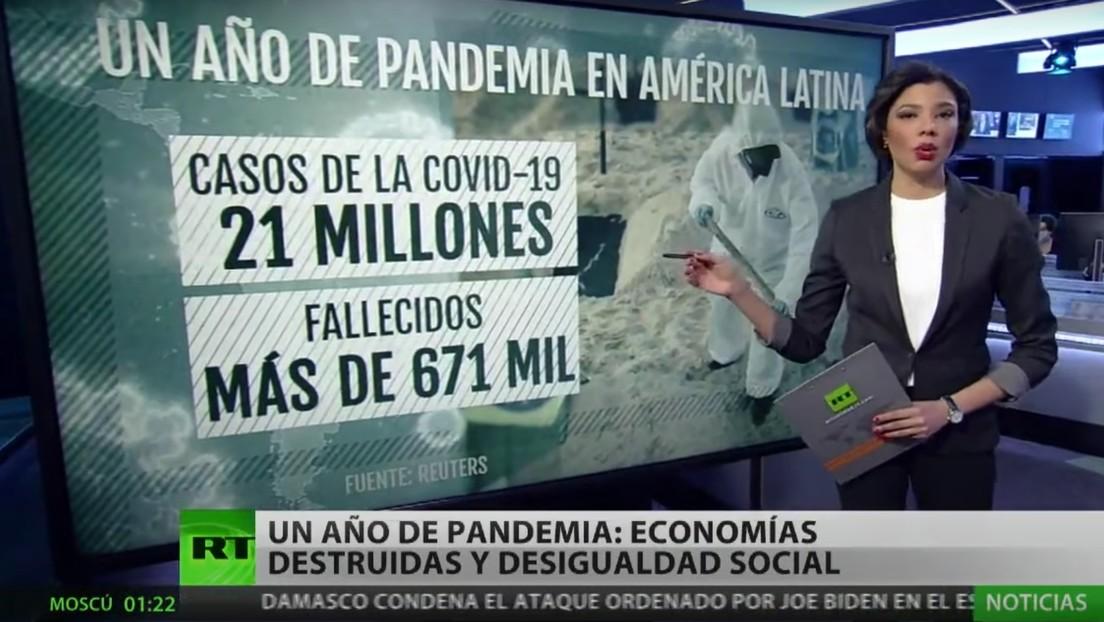 El desalentador panorama que ha dejado el coronavirus en Latinoamérica tras un año de pandemia
