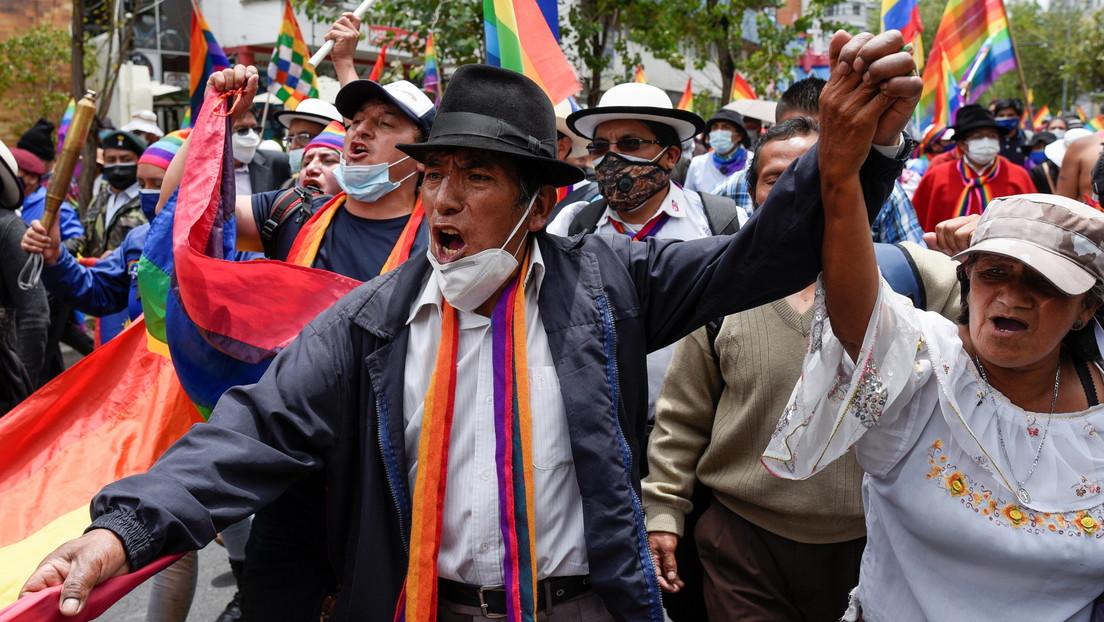 """El movimiento indígena de Ecuador se declara en """"paro nacional"""" ante el presunto """"fraude electoral"""" contra el candidato presidencial Yaku Pérez"""