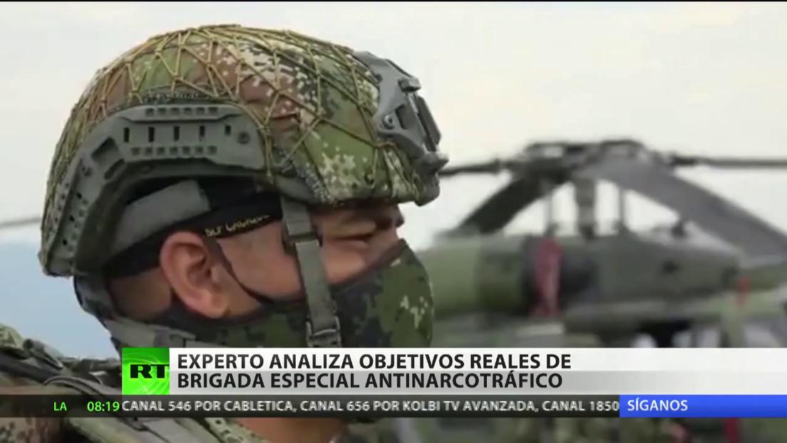 Experto analiza los objetivos reales de la nueva brigada especial antinarcotráfico colombiana