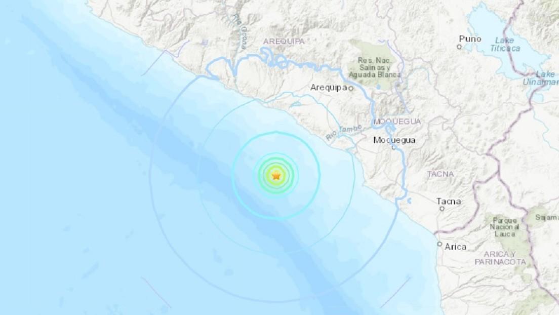 Un temblor de magnitud 5,5 se registra en el Pacífico frente a las costas de Perú