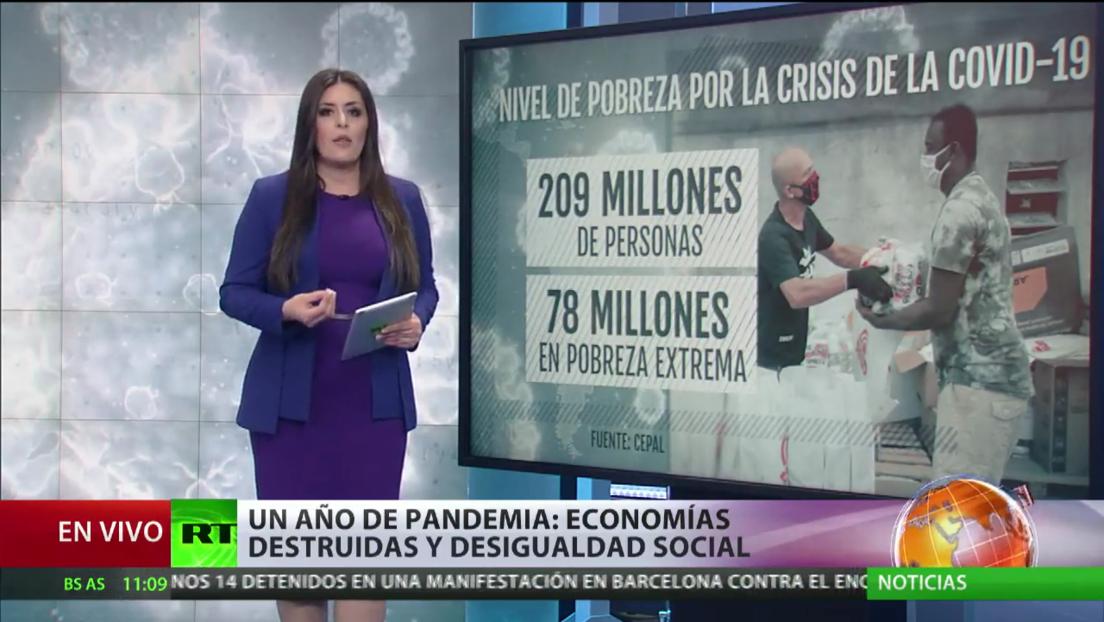 Un año de pandemia en América Latina: economías destruidas y desigualdad social
