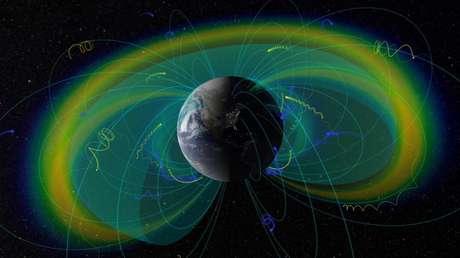 Descubren qué fuerzas aceleran partículas en torno a la Tierra hasta casi la velocidad de la luz