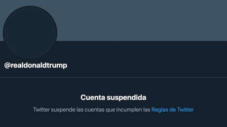 Twitter asegura que la cuenta de Trump seguirá suspendida incluso si volviera a ganar unas elecciones