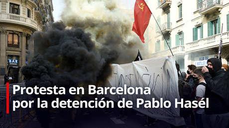 EN VIVO: Estudiantes protestan en Barcelona contra la condena al rapero Pablo Hasél