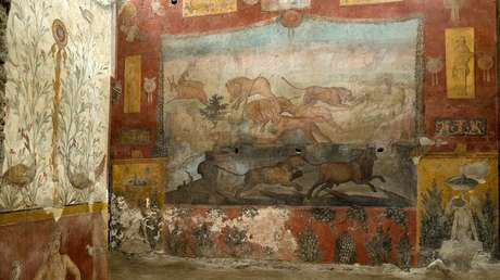 Uno de los más impresionantes frescos de Pompeya recupera su esplendor tras su reciente restauración (VIDEO)