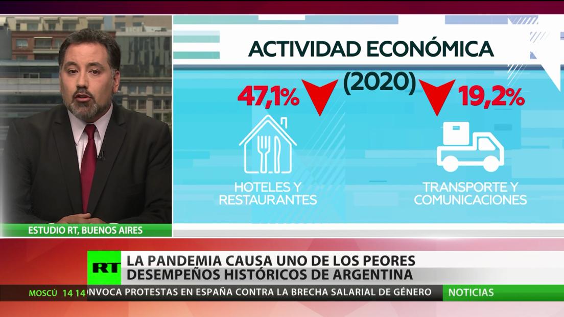 La pandemia del covid-19 causa uno de los peores desempeños históricos de Argentina
