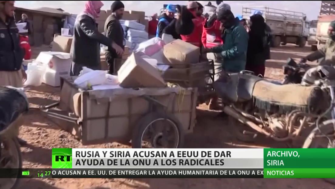 Rusia y Siria acusan a EE.UU. de dar ayuda de la ONU a los radicales