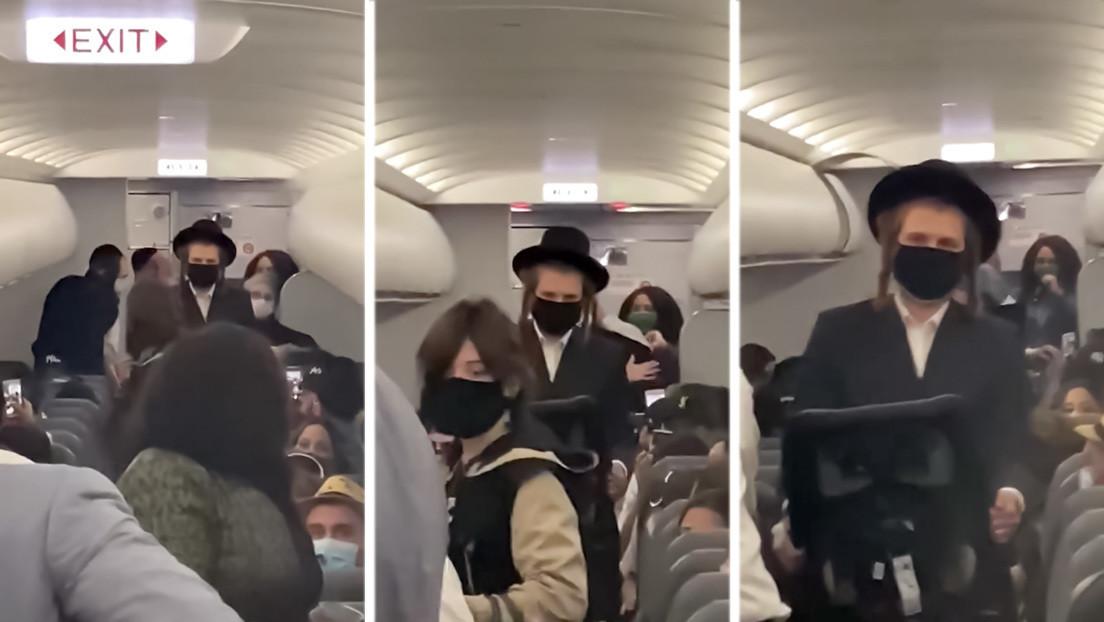"""""""Esto es la Alemania nazi"""": instan a boicotear a una aerolínea por expulsar a una pareja judía con un niño sin mascarilla (VIDEOS)"""