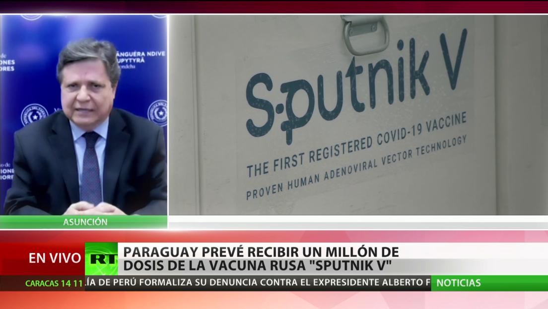 Paraguay prevé recibir un millón de dosis de la vacuna rusa Sputnik V contra el covid-19