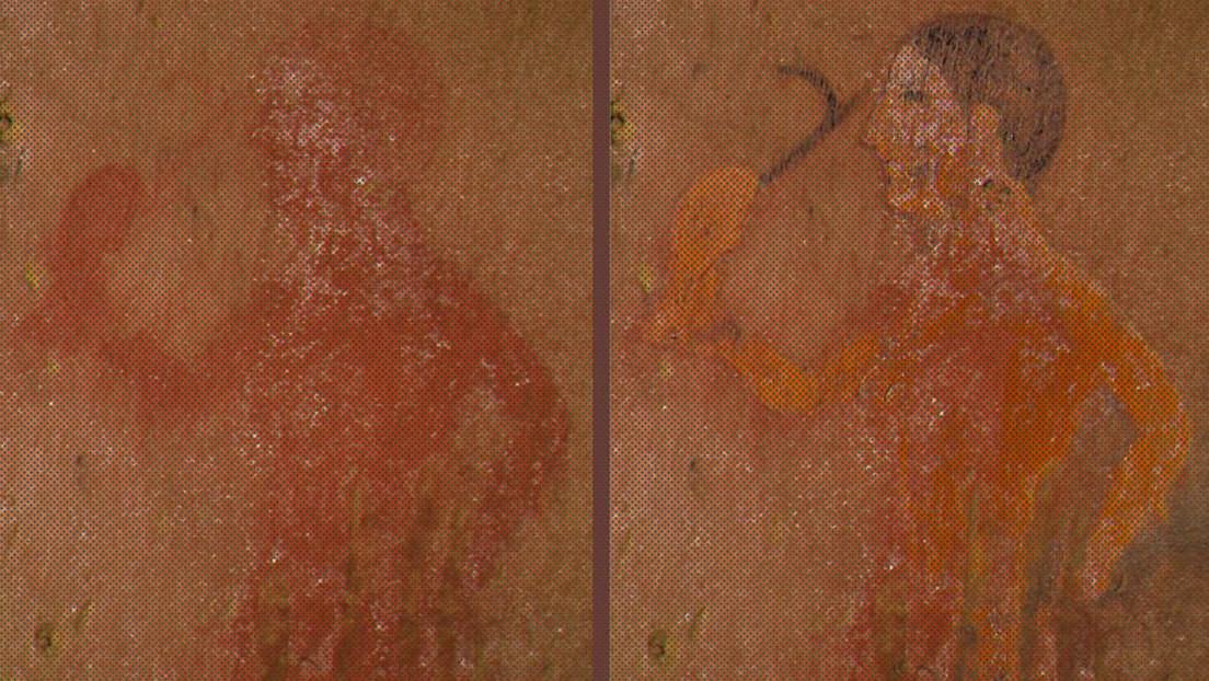 Afloran imágenes 'escondidas' en frescos etruscos gracias a una nueva técnica de restauración del color
