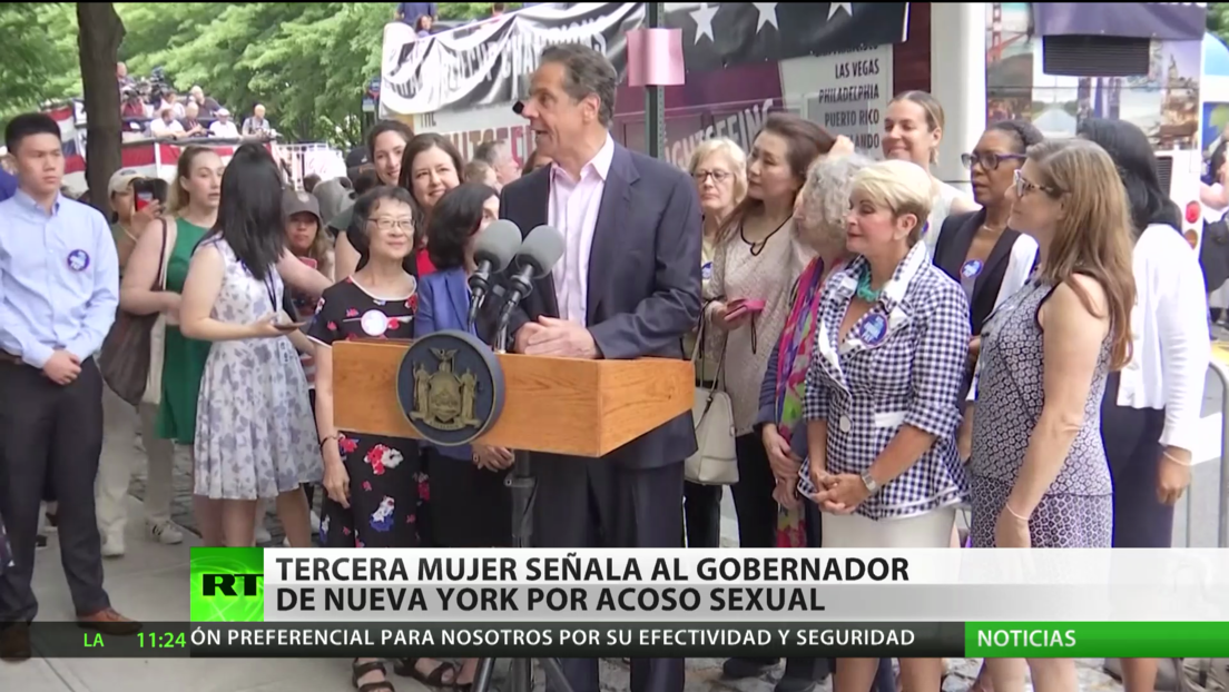 Una tercera mujer acusa al gobernador de Nueva York por acoso sexual