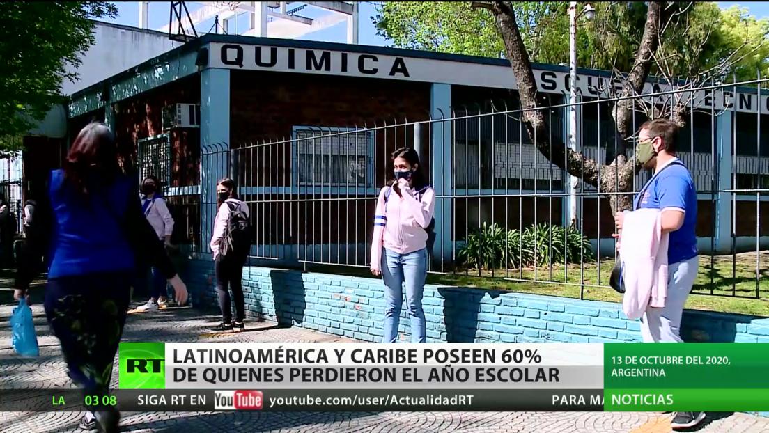 El 60 % de los menores que perdieron el año escolar por culpa de la pandemia vive en Latinoamérica y el Caribe