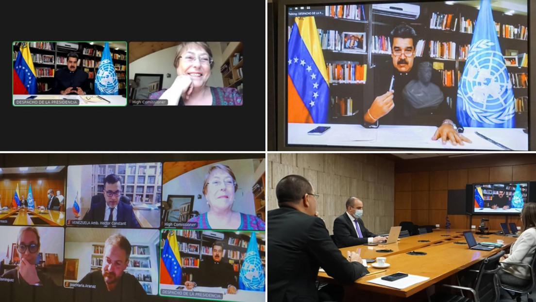 """Maduro mantiene una """"cordial reunión"""" en forma virtual con la Alta Comisionada de DDHH de la ONU, Michelle Bachelet"""