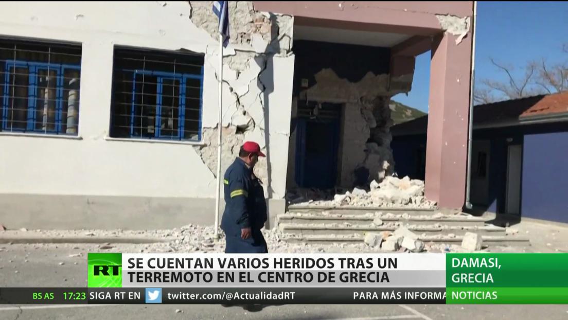 Se contabilizan varias personas heridas tras el terremoto de magnitud 6,3 en Grecia