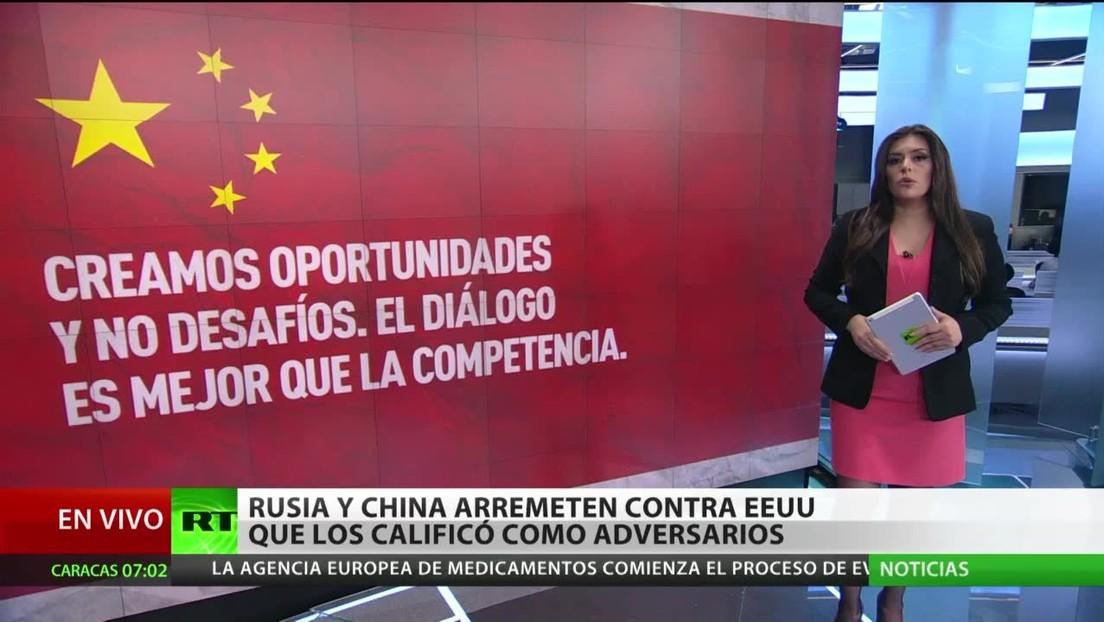 Moscú y Pekín arremeten contra Washington por calificarlos como adversarios