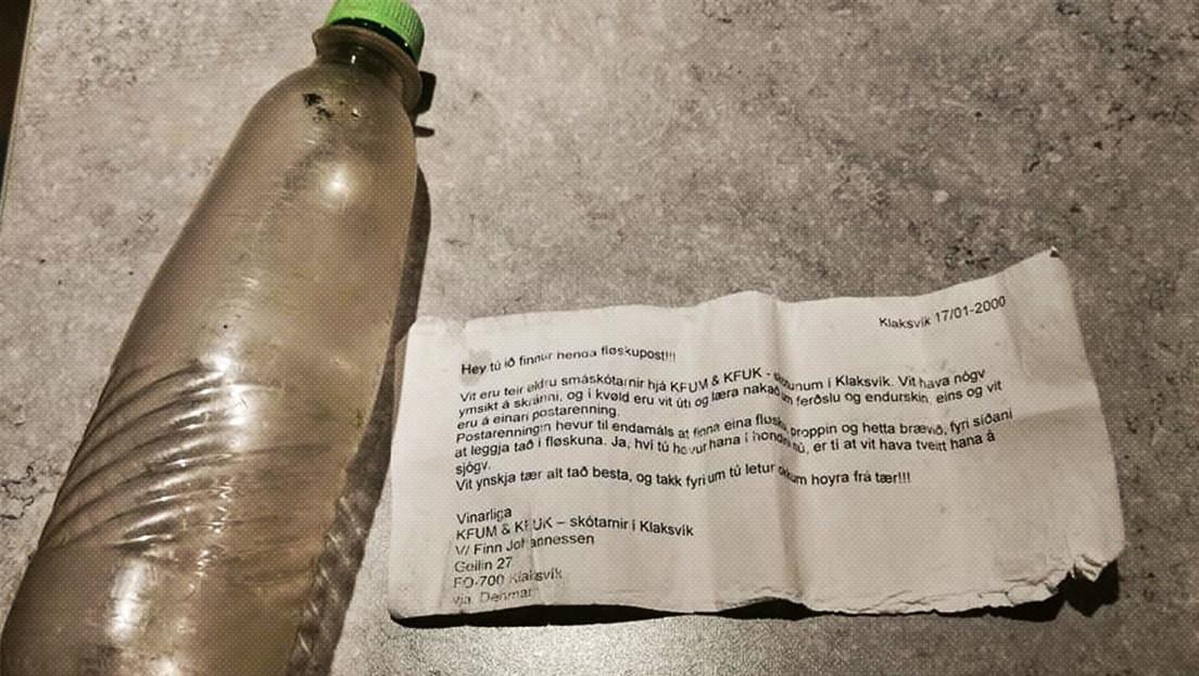 Encuentran en Escocia una botella con un mensaje arrojado al mar hace 21 años por un grupo de scouts