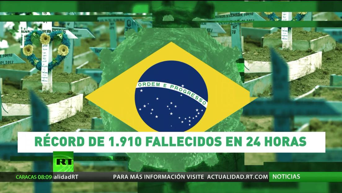 Brasil registra un récord de más de 1.900 muertes diarias a causa de covid-19 en un día