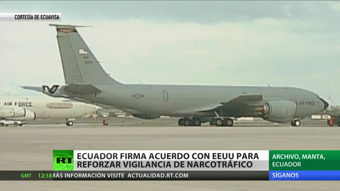 Ecuador firma acuerdo con EE.UU. para reforzar vigilancia de narcotráfico
