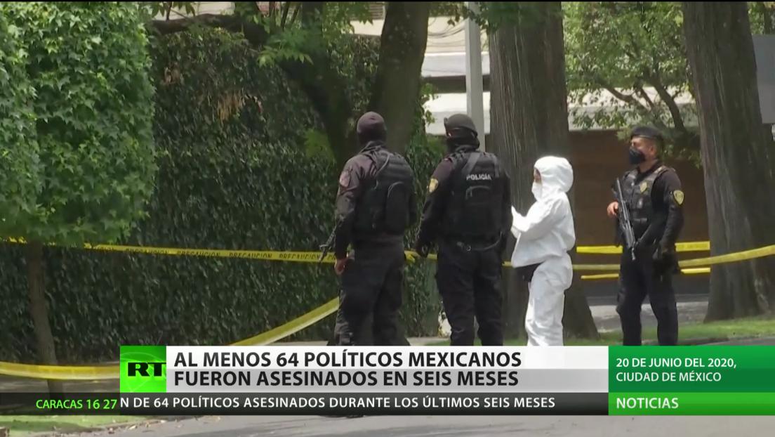 Al menos 64 políticos mexicanos fueron asesinados en seis meses