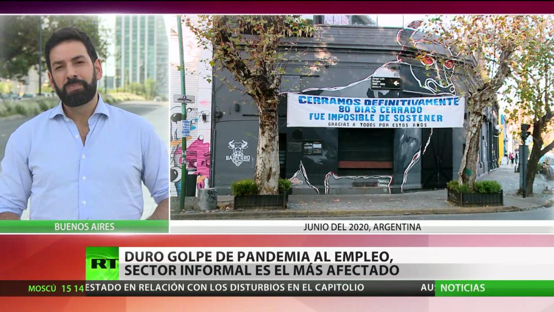 Un informe revela el severo impacto de la pandemia de covid-19 en el mercado laboral de Argentina