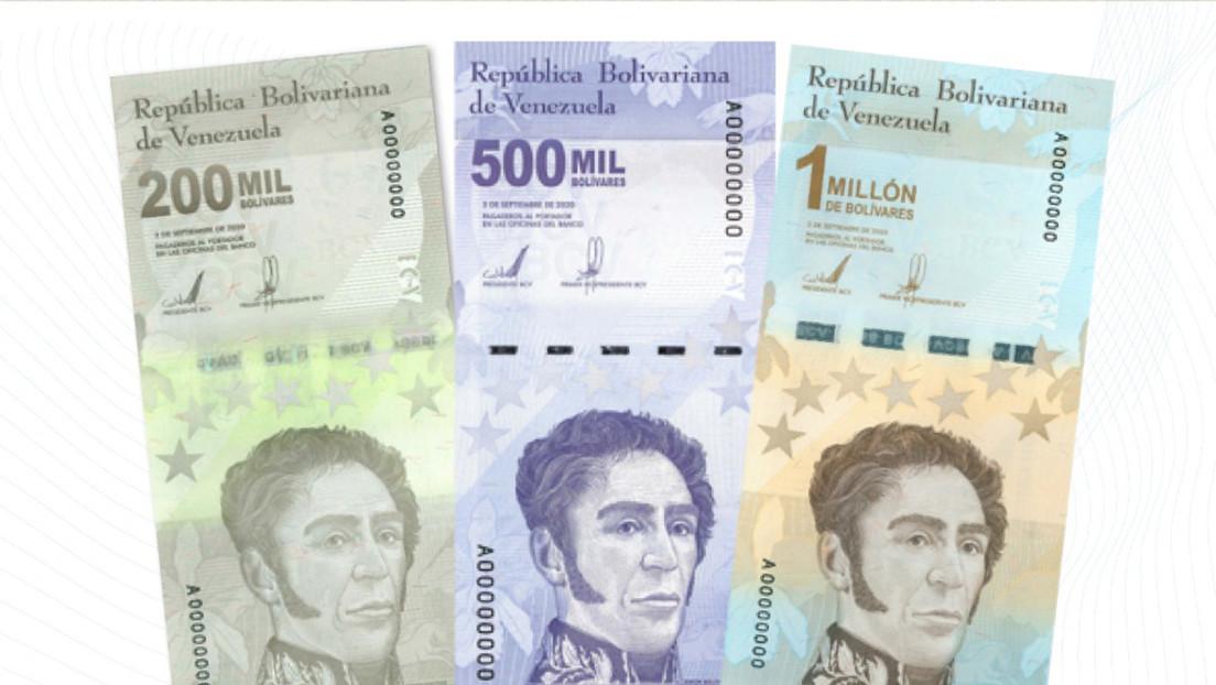 Venezuela incorpora tres nuevos billetes a su cono monetario a partir del próximo lunes