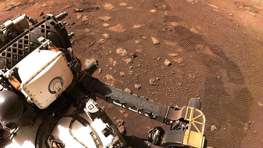 FOTOS: El róver Perseverance da su primer paseo sobre la superficie de Marte