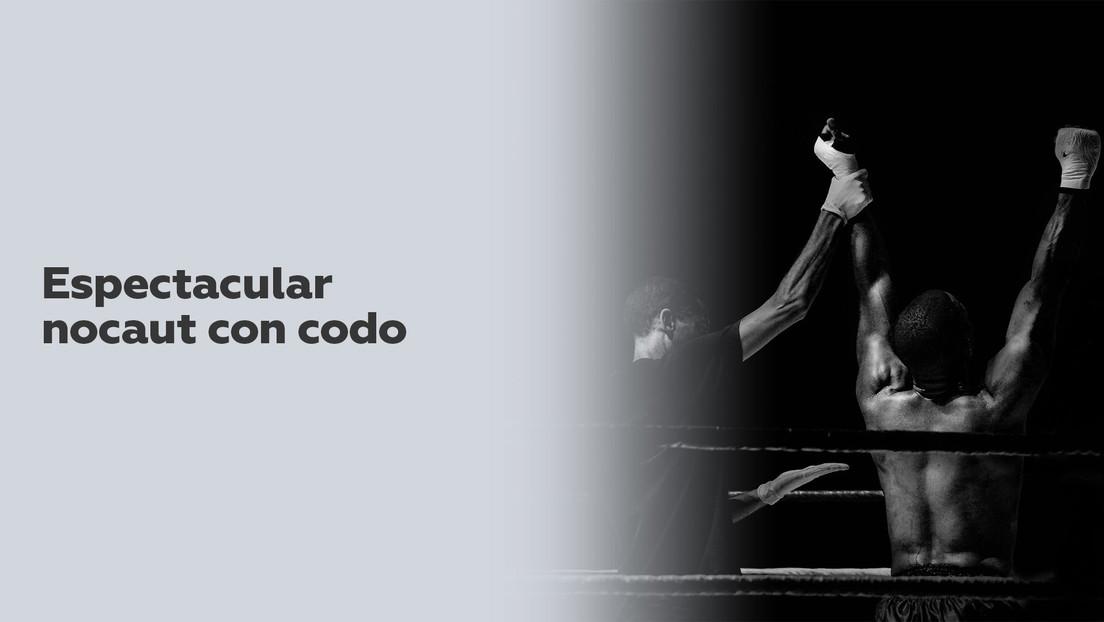 VIDEOS: Un luchador de MMA hace un espectacular nocaut con el codo (visible en cámara lenta)