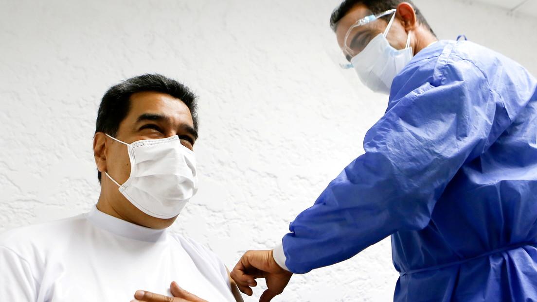 Maduro recibe la primera dosis de la vacuna rusa Sputnik V contra el coronavirus (VIDEO)