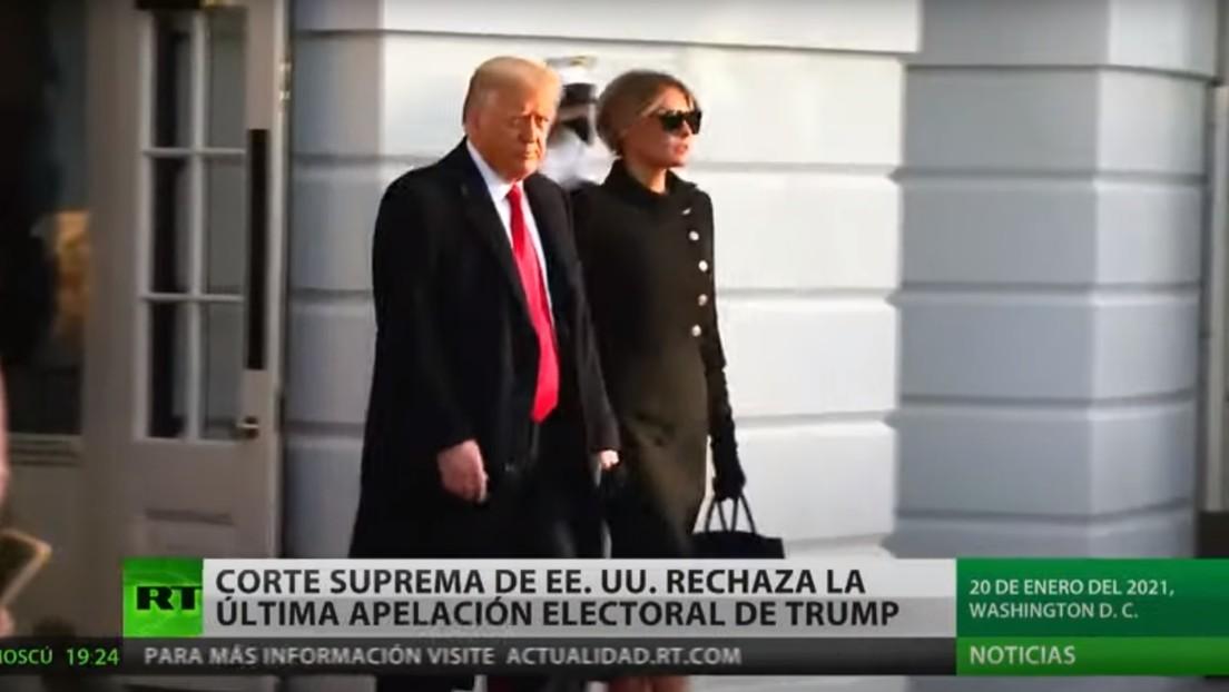 La Corte Suprema de EE.UU. rechaza la última apelación electoral de Donald Trump