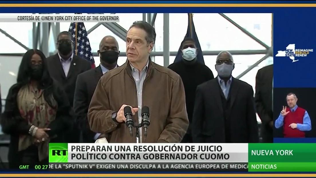 Preparan resolución para abrir un juicio político contra el gobernador de Nueva York